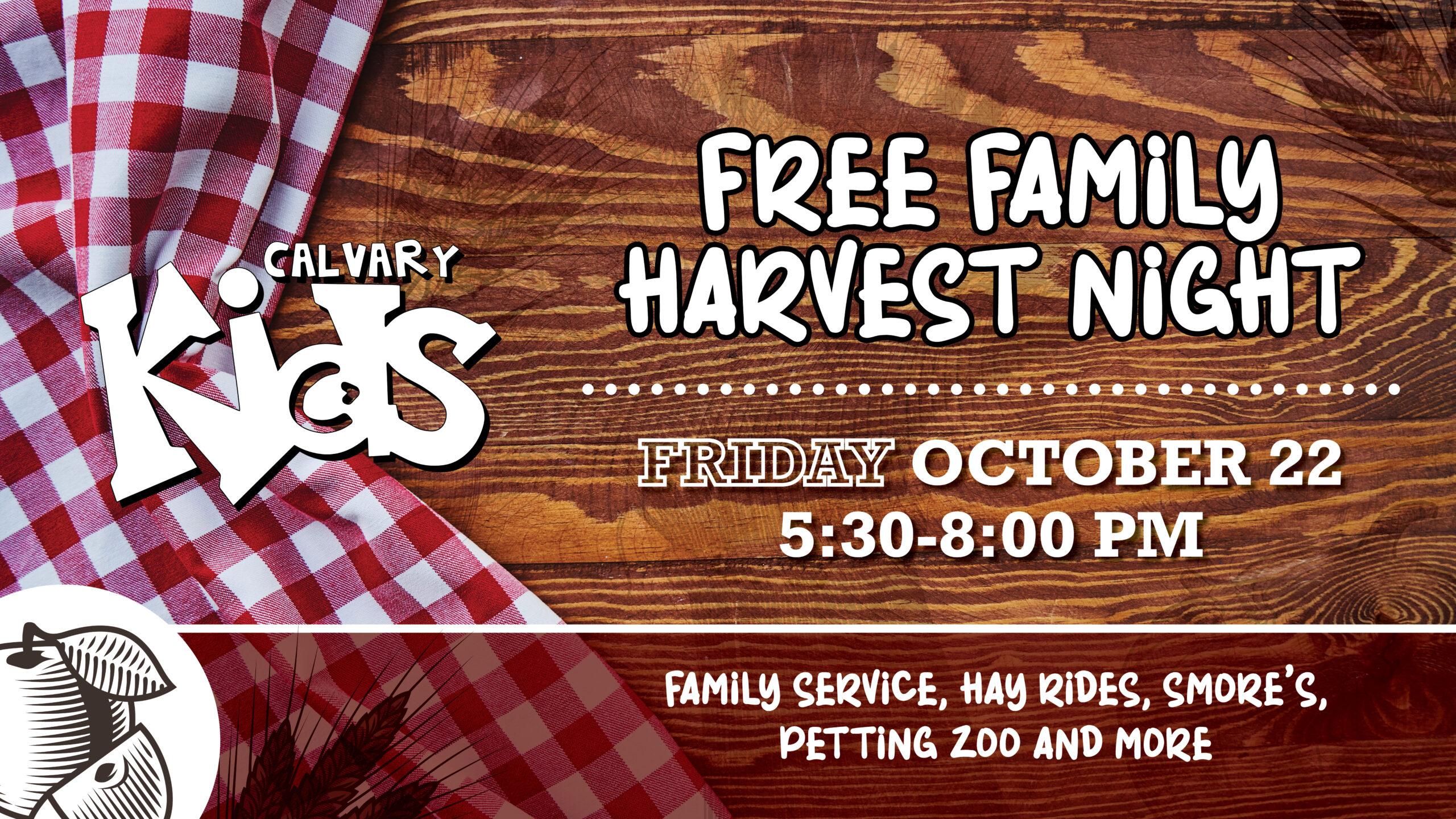 Family Harvest Night - CalvaryFL Kids - Calvary Kids -