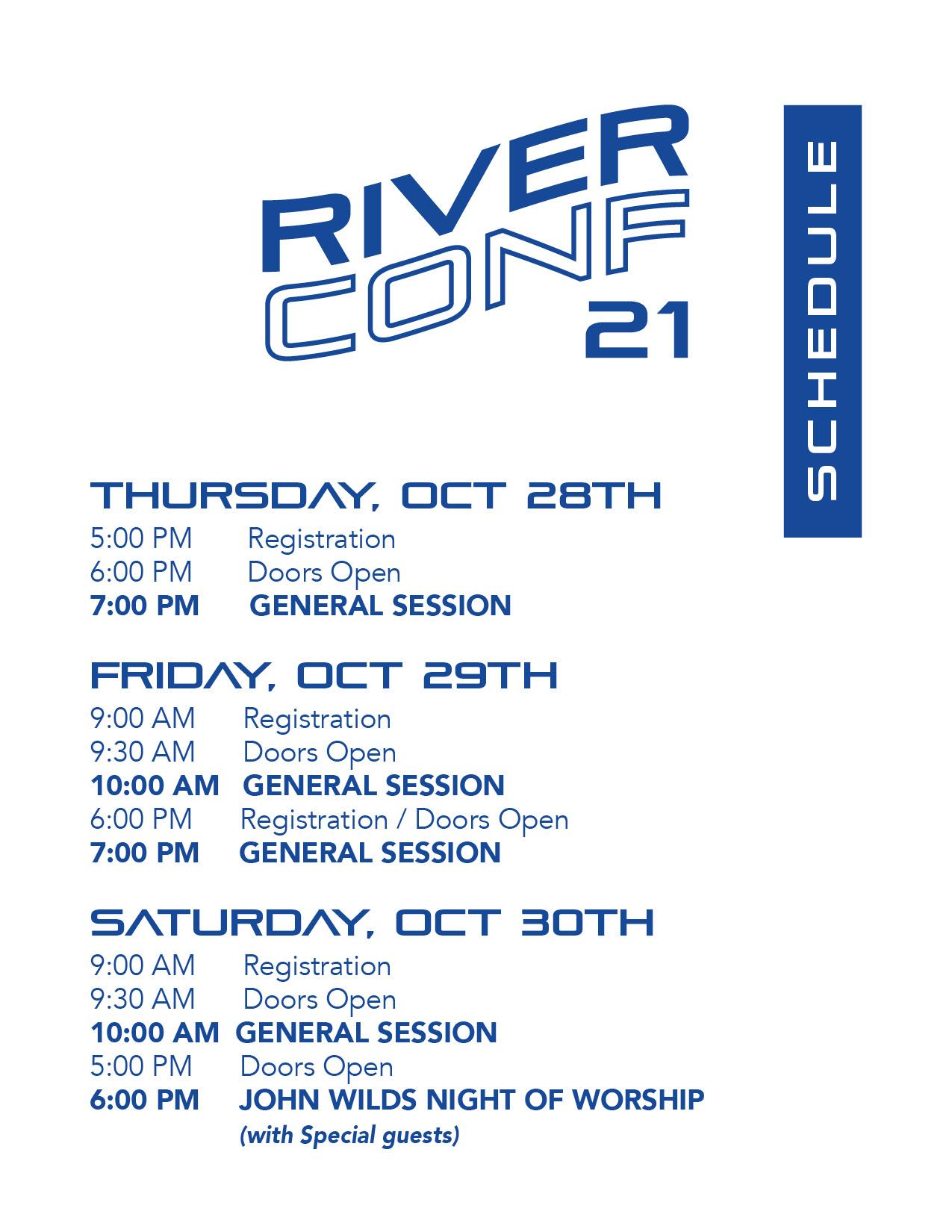 RiverConf21 Schedule